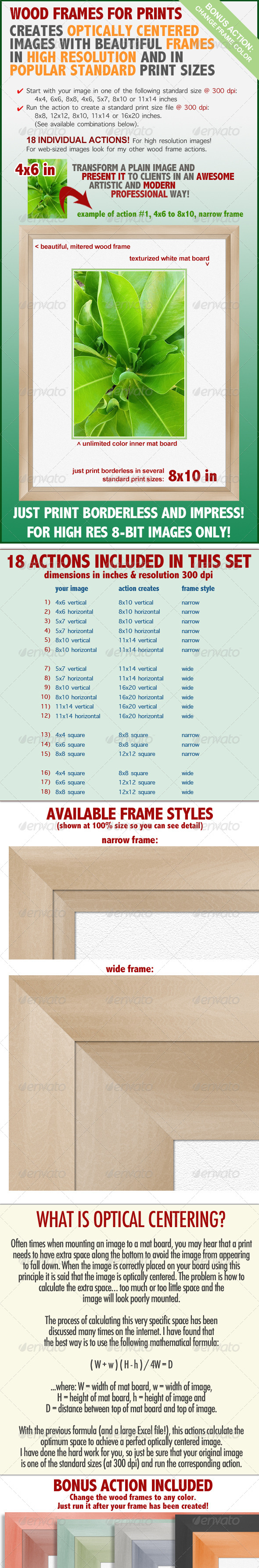 GraphicRiver Wood Frame for Prints Action Set 7031829