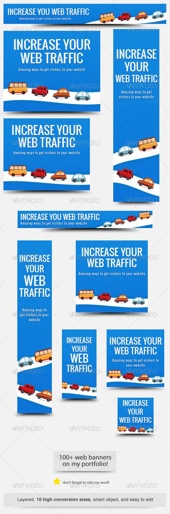 Web Traffic Web Banner