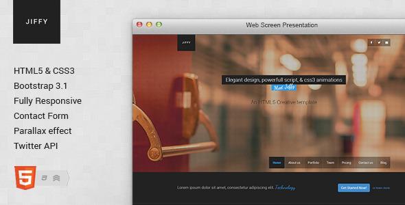 Jiffy - Responsive HTML5 Template