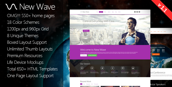 New Wave - 8 in 1 Massive Multipurpose Template