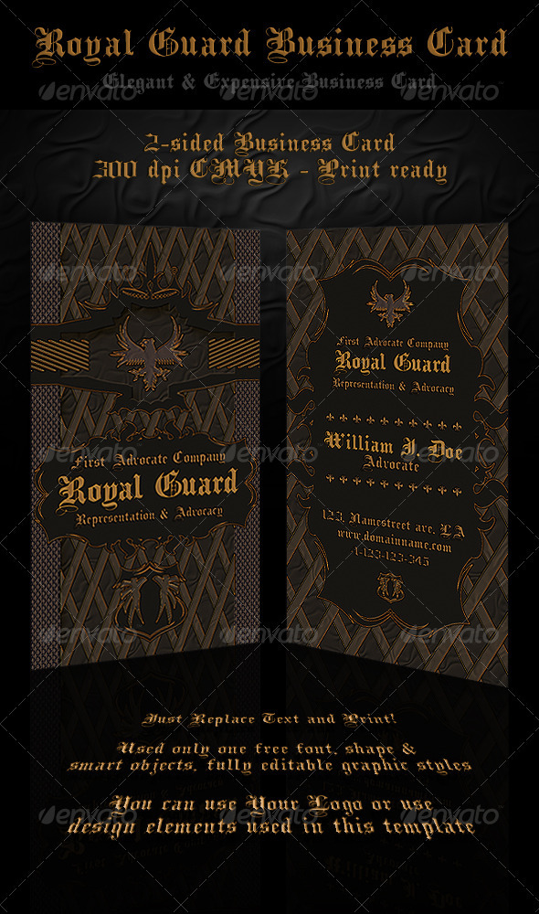 Royal Guard Business Card - Creative Business Cards