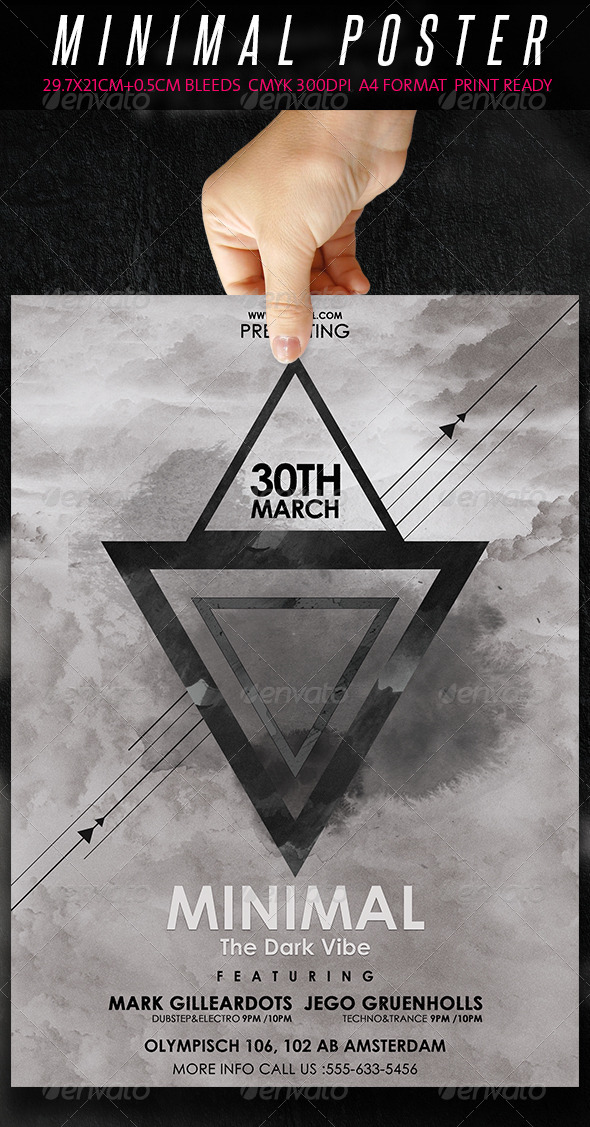 GraphicRiver Minimal Flyer Poster The Dark Vibe 7032631