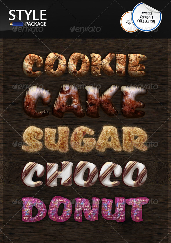 GraphicRiver Sweets Elements Styles v1 7032922