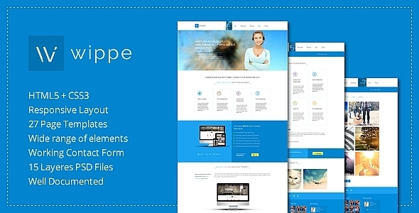 ThemeForest Wippe Responsive HTML Template 7032929