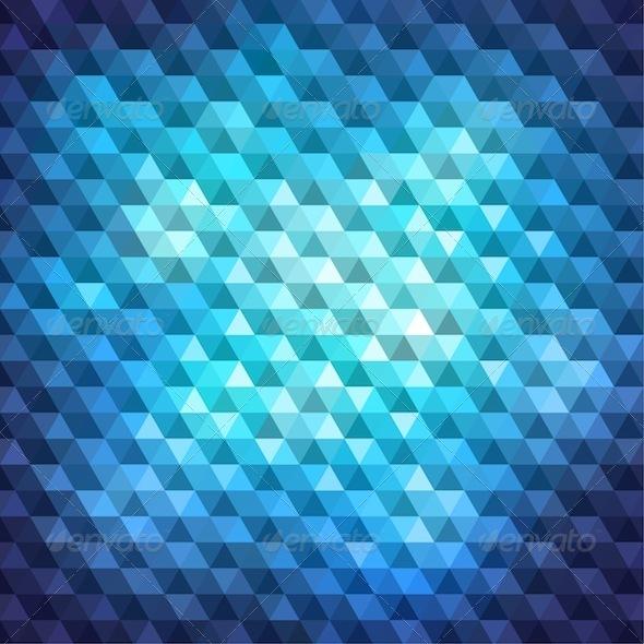 Blue Mosaic Banner