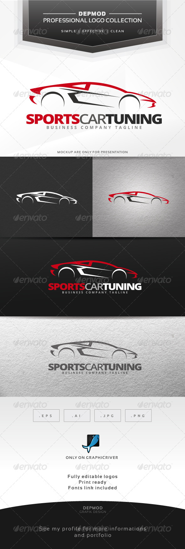 GraphicRiver Sports Car Tuning Logo 7033866