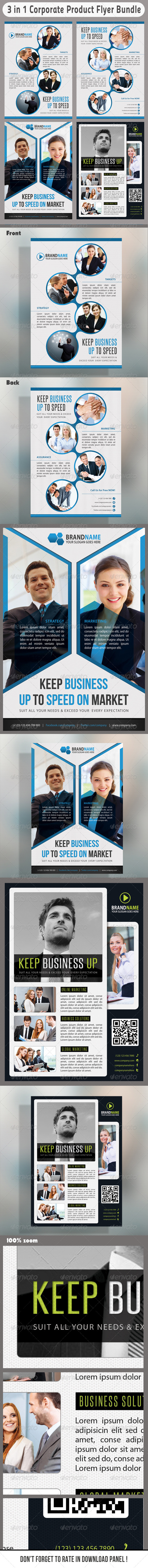 GraphicRiver 3 in 1 Corporate Flyers Bundle 09 7033958