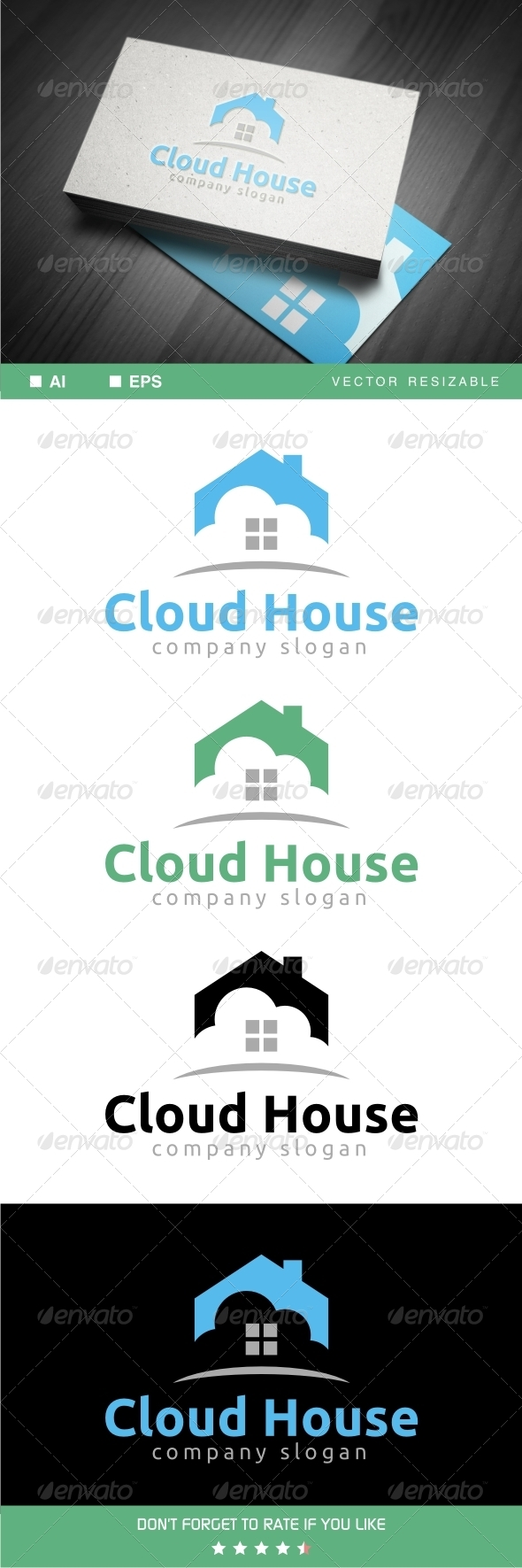 GraphicRiver Cloud House Logo 7033963