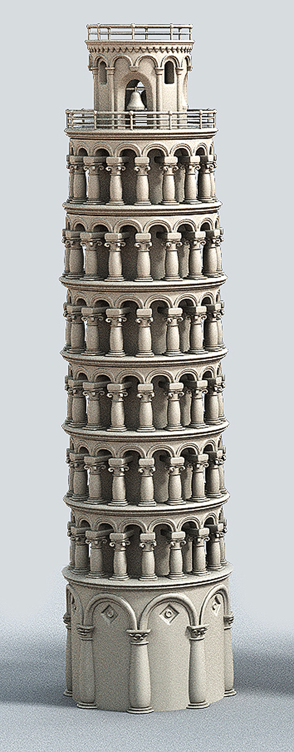 3DOcean Cartoon Tower of Pisa 7033983