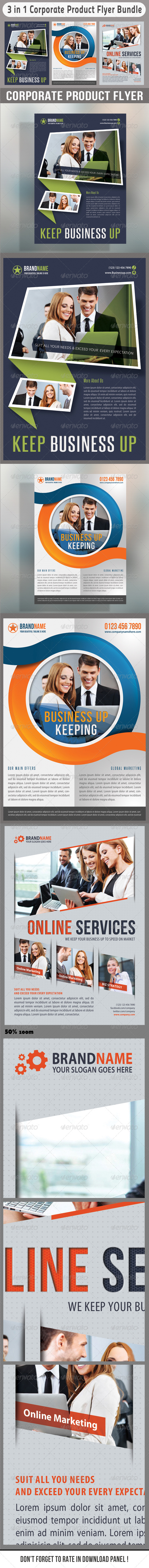 GraphicRiver 3 in 1 Corporate Flyers Bundle 10 7033987