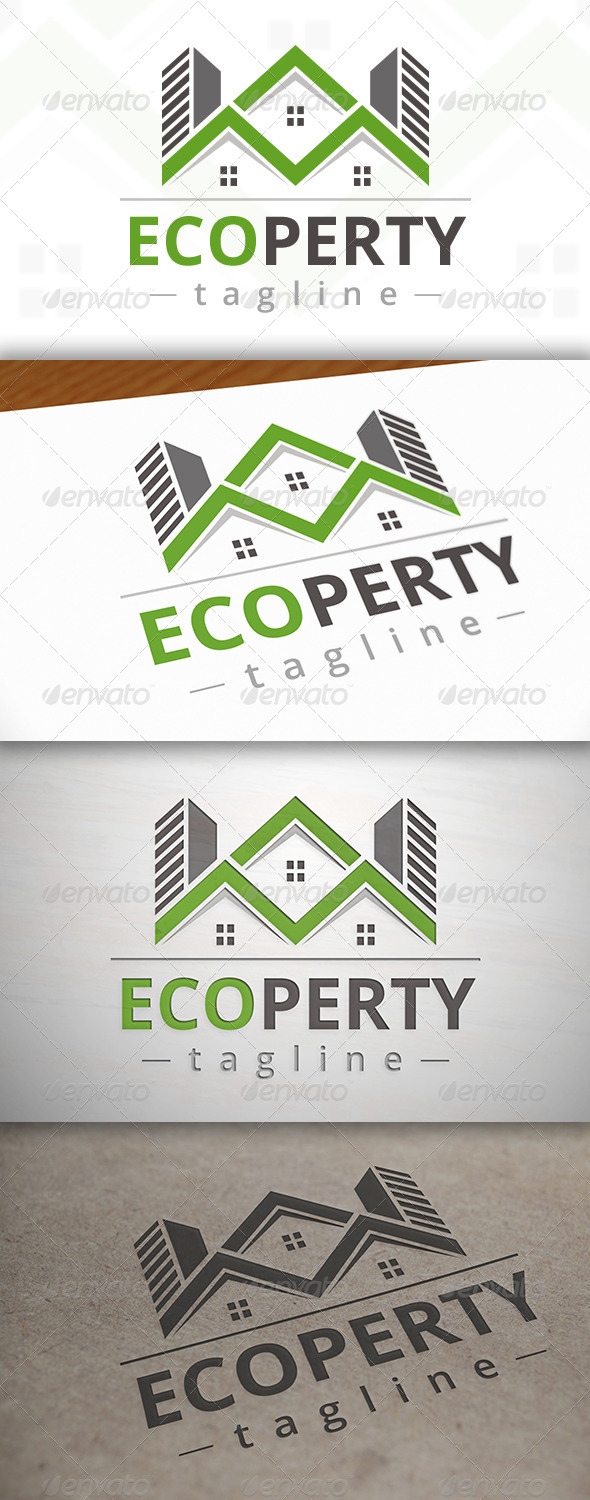 GraphicRiver Eco Property Logo 7034089