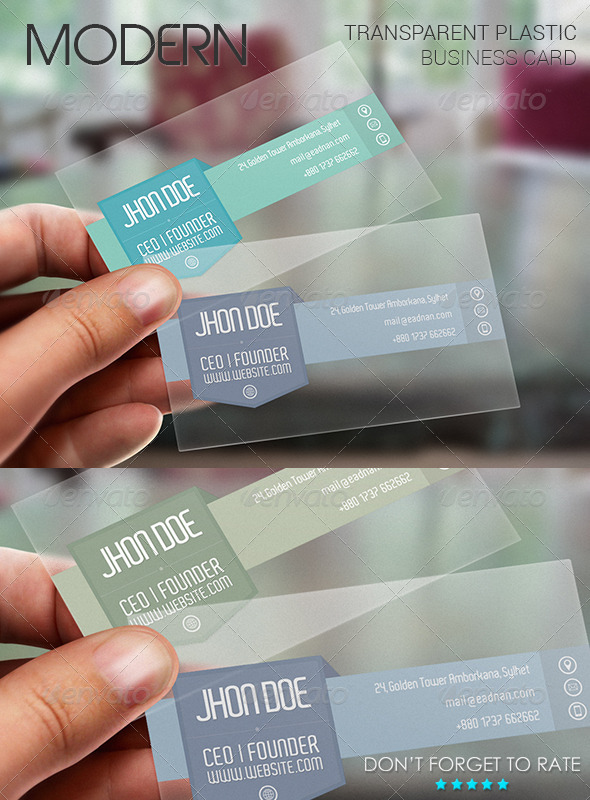 GraphicRiver Modern Plastic Business Card Template 7034749