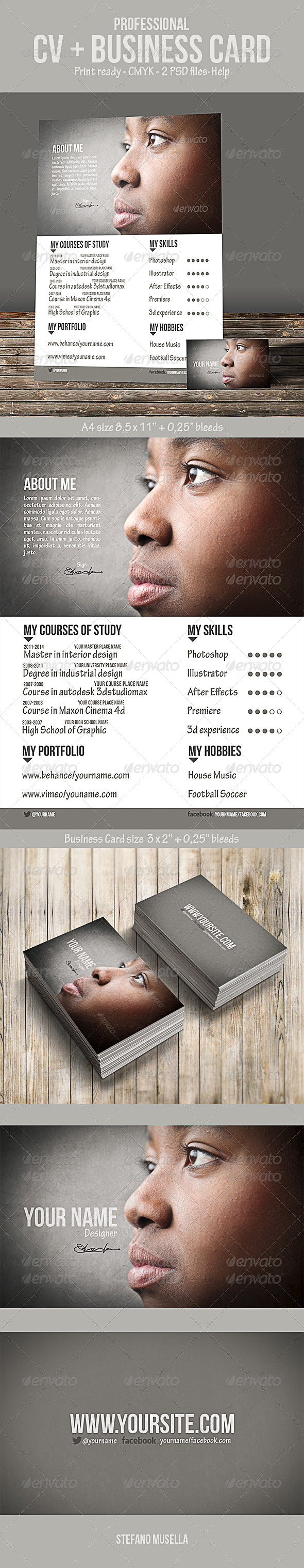 GraphicRiver Cv and Business Card 7019338