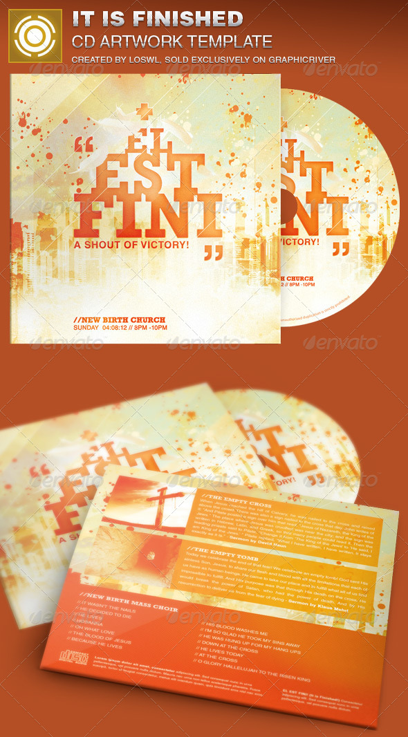 GraphicRiver It is Finished CD Artwork Template 7034979