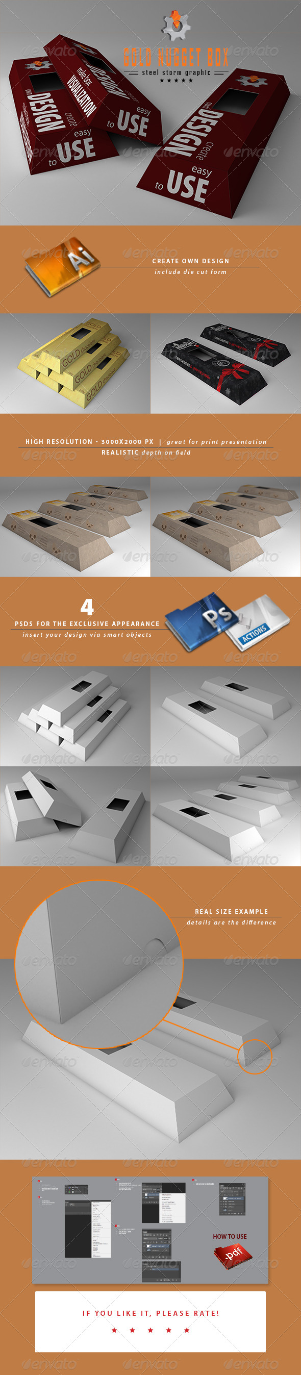 GraphicRiver 3D Chocolate Box Mockup 7021389