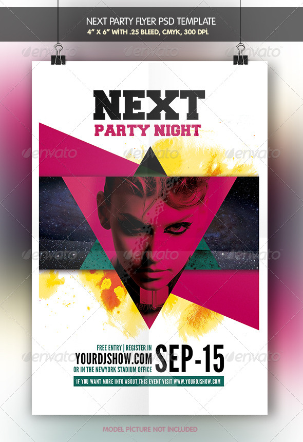 GraphicRiver Next Party Flyer Template 7035109