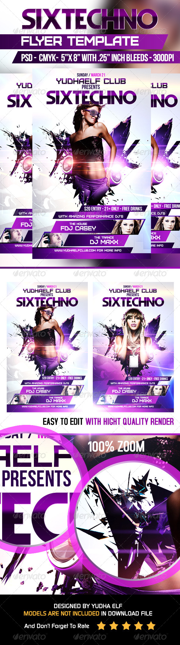 GraphicRiver SIxtechno Flyer Template 7035114