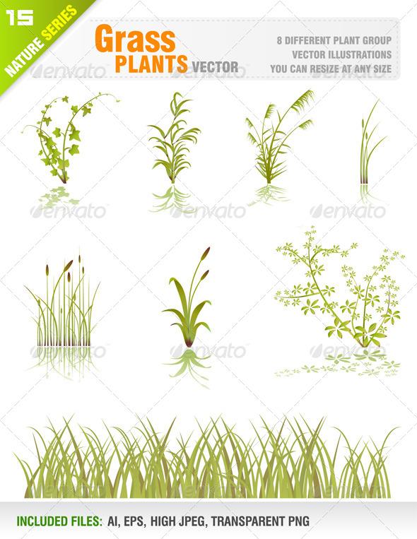 GraphicRiver Grass Plant Set 7035192