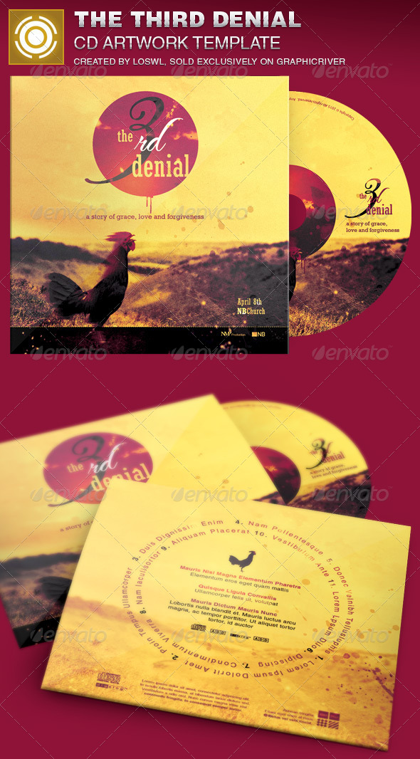 GraphicRiver The Third Denial CD Artwork Template 7035279