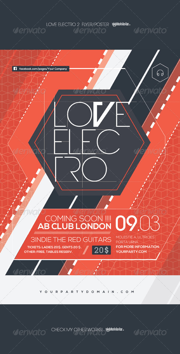 Love Electro 2 Poster Flyer