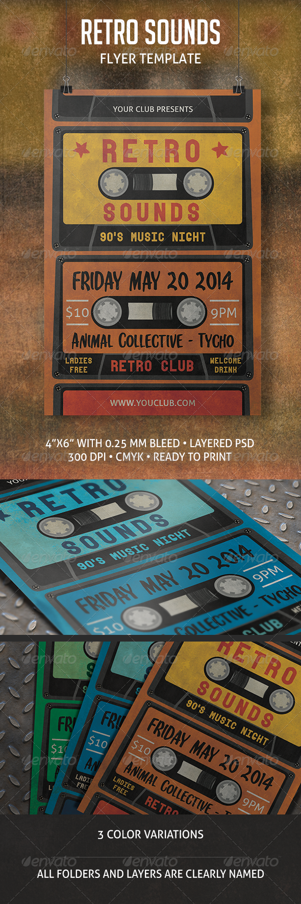 GraphicRiver Retro Sounds Flyer 7035493
