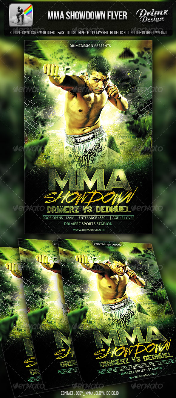 GraphicRiver MMA Showdown Flyer 7035492