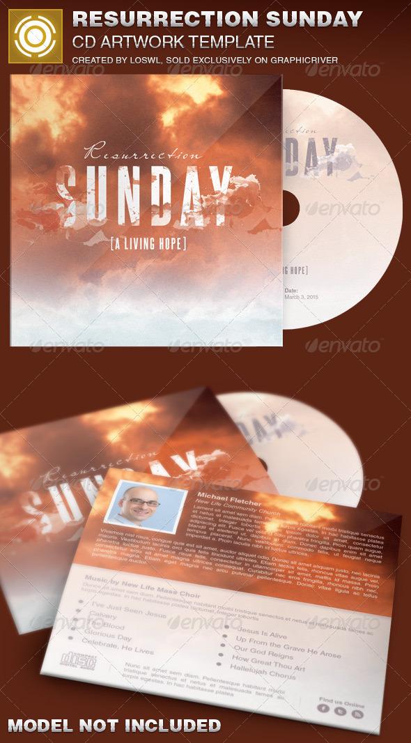 GraphicRiver Resurrection Sunday CD Artwork Template 7035505