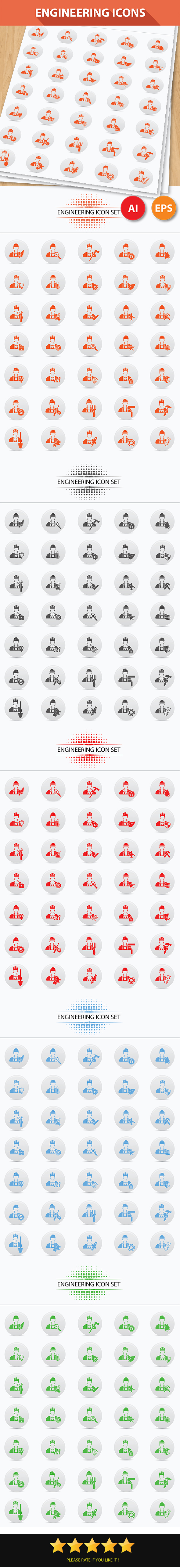 GraphicRiver Engineering Icons 7035508