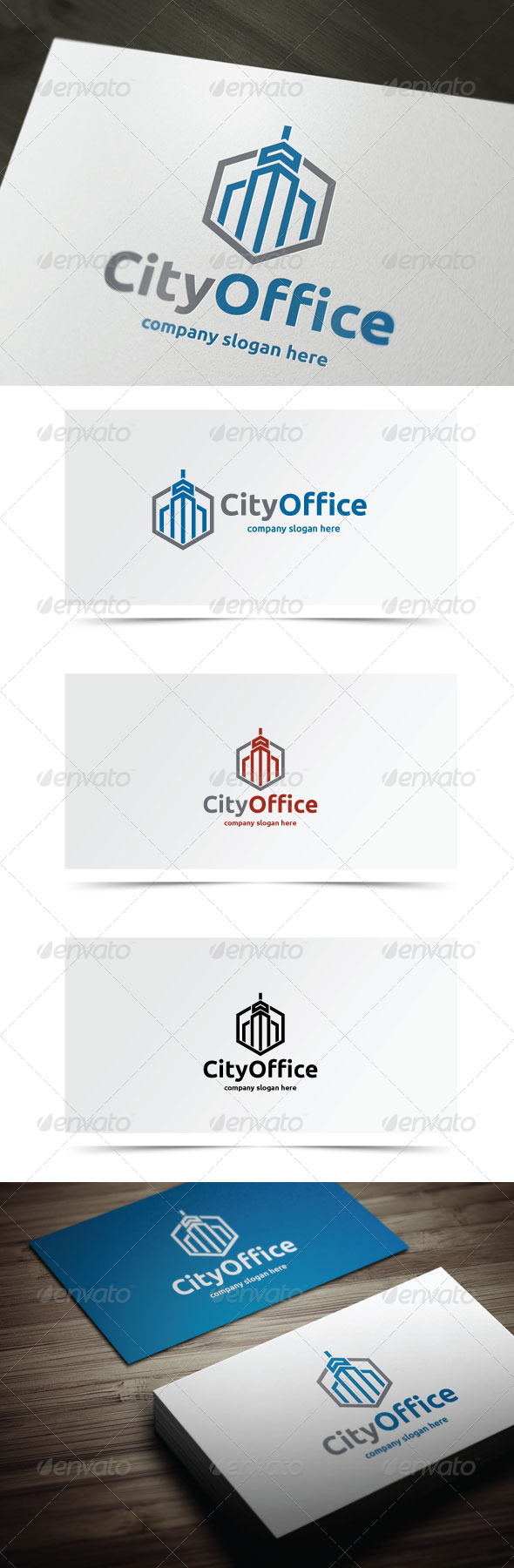 City Office - Buildings Logo Templates