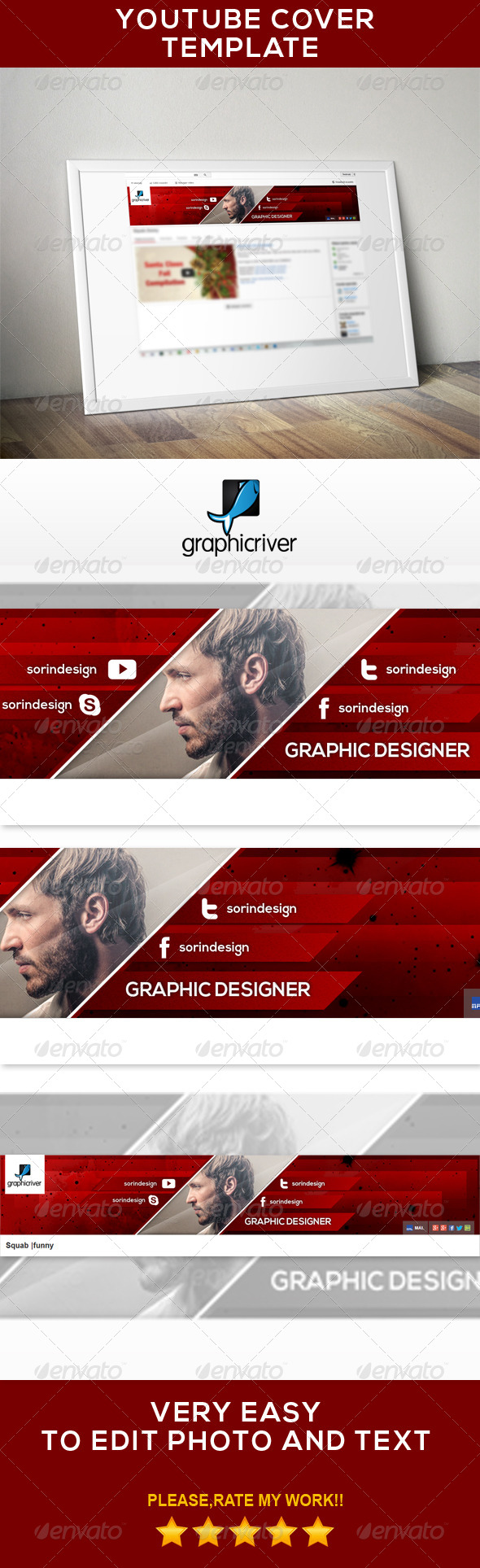 GraphicRiver Modern Youtube Banner 7035601