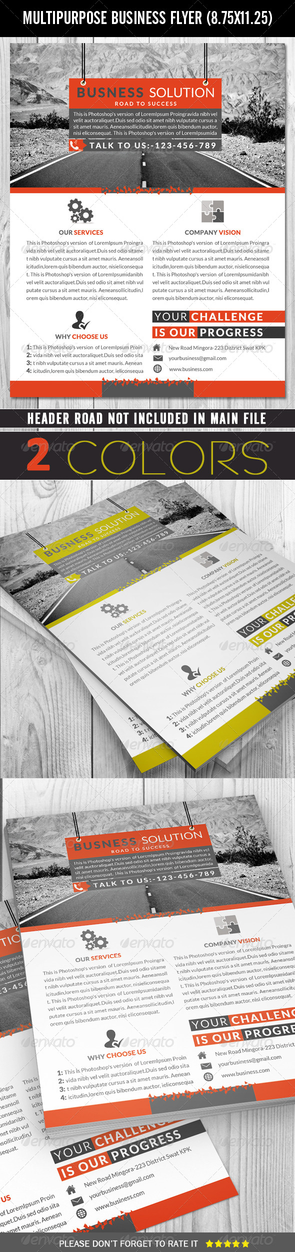 GraphicRiver Multipurpose Flyer 7035622