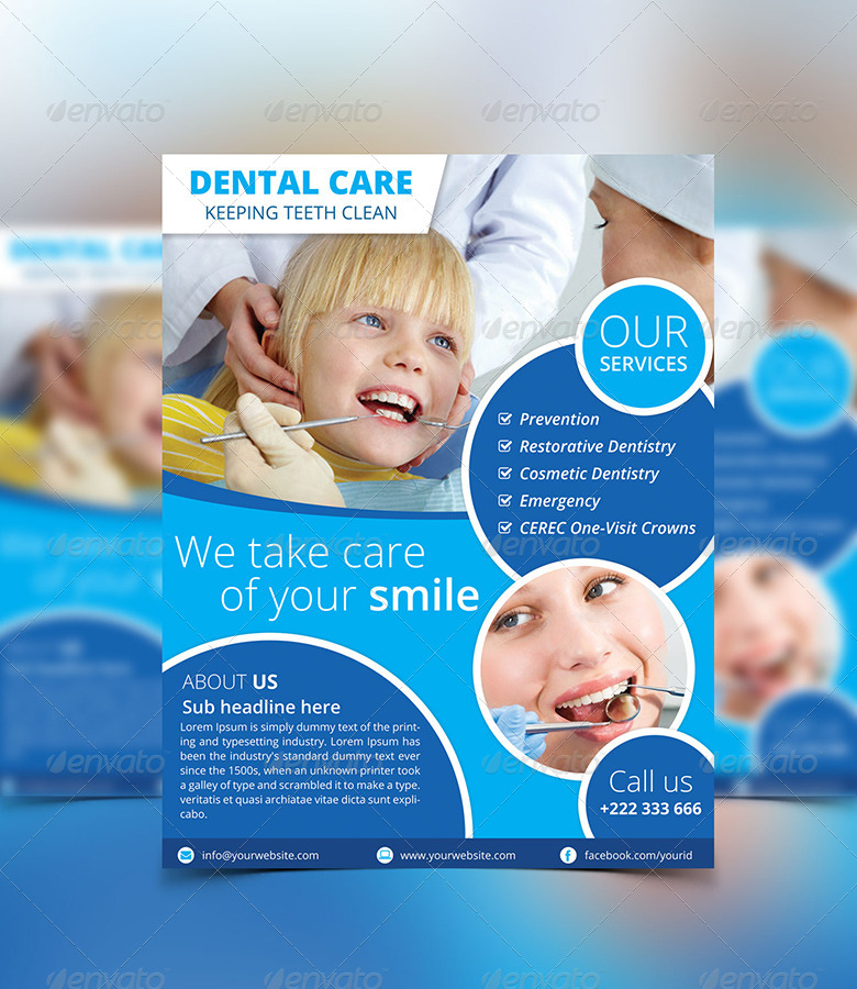 Dental Flyer by pixeldesigners | GraphicRiver