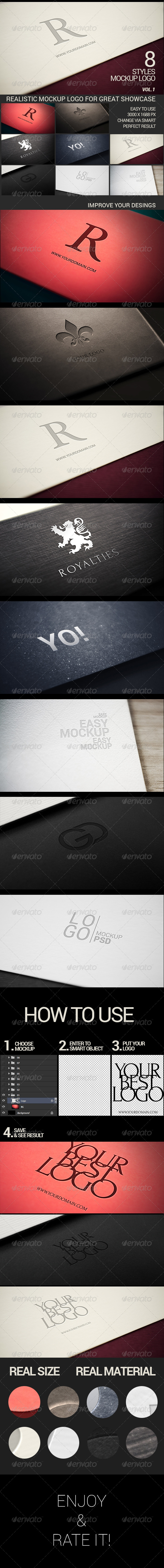 GraphicRiver Photorealistic Modern Logo Mock-Up Pack Vol.1 7036421