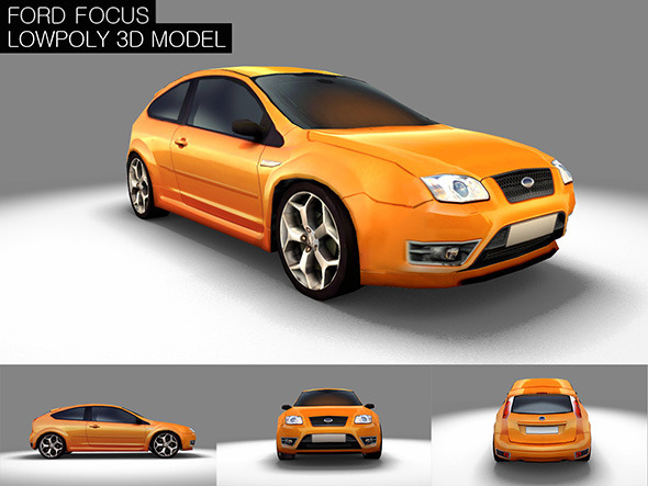 3DOcean Low Poly Ford Focus Game Model 7036426
