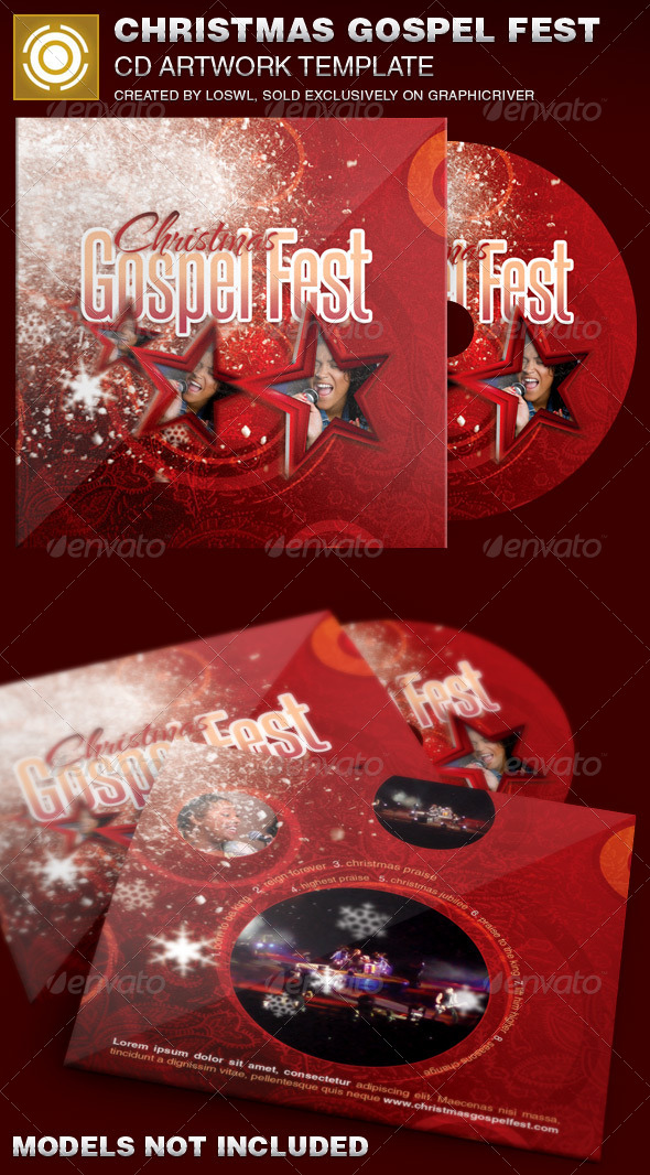 Christmas Gospel Fest CD Artwork Template - CD & DVD Artwork Print Templates