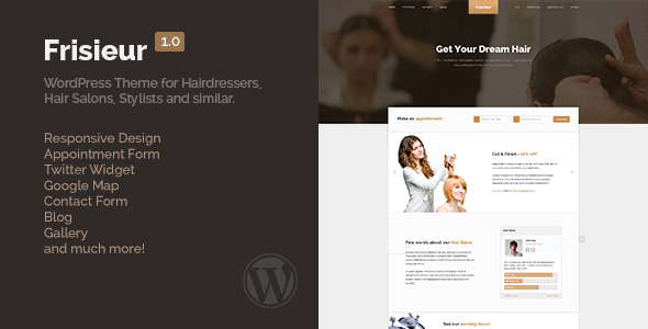 ThemeForest Frisieur WordPress Theme for Hairdressers 6804791