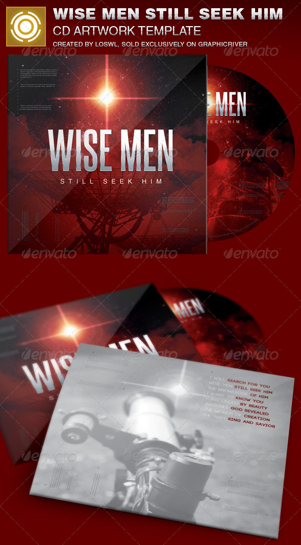 Wise Men Still Seek Him CD Artwork Template - CD & DVD artwork Print Templates