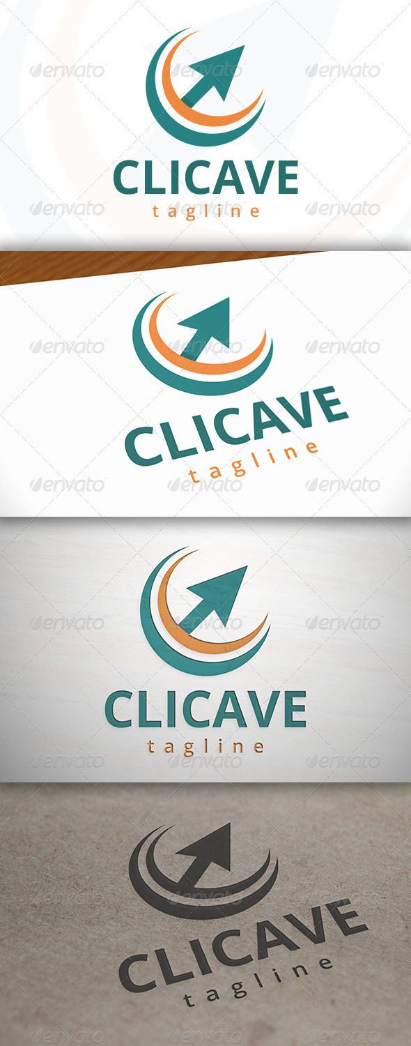 GraphicRiver Click Wave Logo 7036994