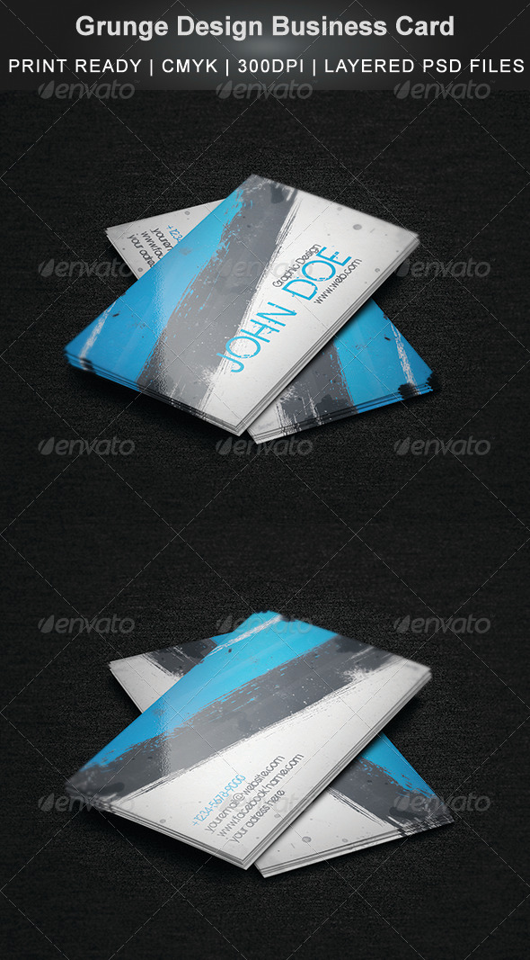 GraphicRiver Grunge Design Business Card 7037021