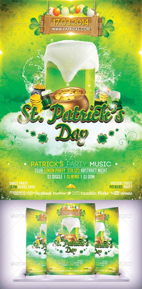 GraphicRiver Patricks Day Flyer 7024388
