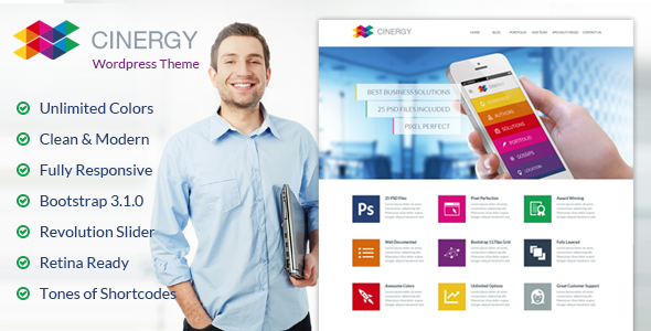 ThemeForest Cinergy Modern Business Wordpress Theme 7038318