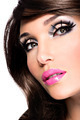 Beautiful brunette woman with bright fashion make-up