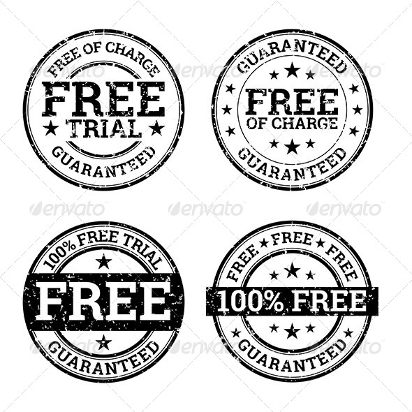 GraphicRiver Free Trial Black and White Stamps 7039569