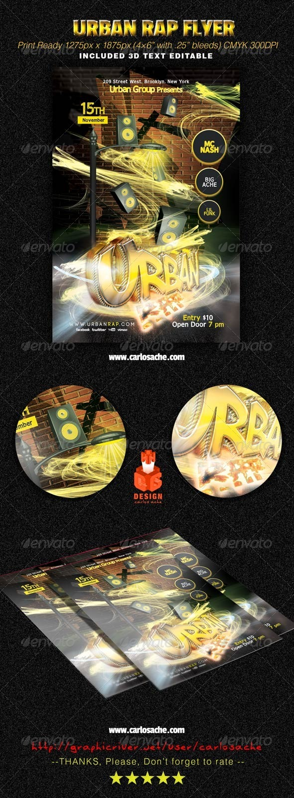 GraphicRiver Urban Rap Flyer 7039665