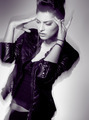 beautiful punk woman model posing in leather jacket - PhotoDune Item for Sale