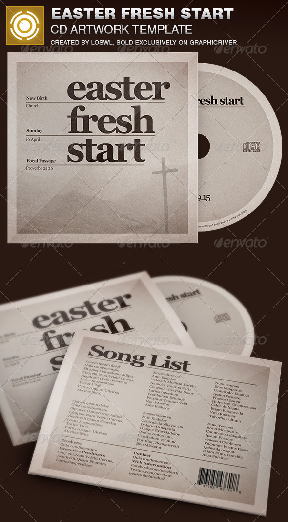 GraphicRiver Easter Fresh Start CD Artwork Template 7039855