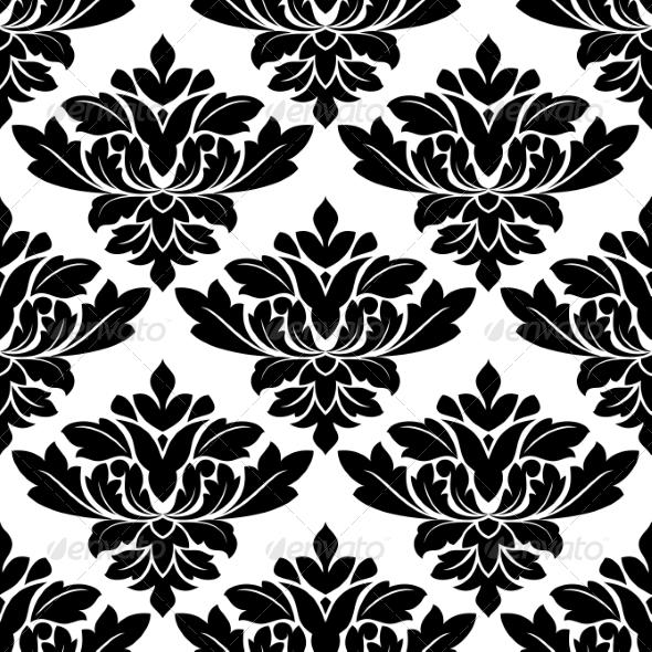 Damask Style Arabesque Pattern