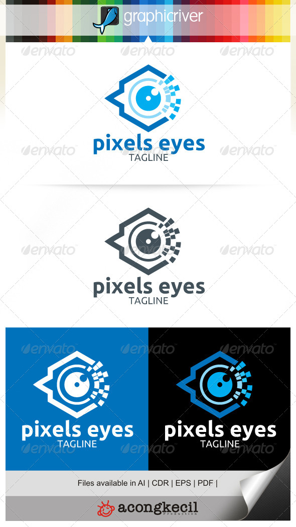 GraphicRiver Pixels Eyes 7039979