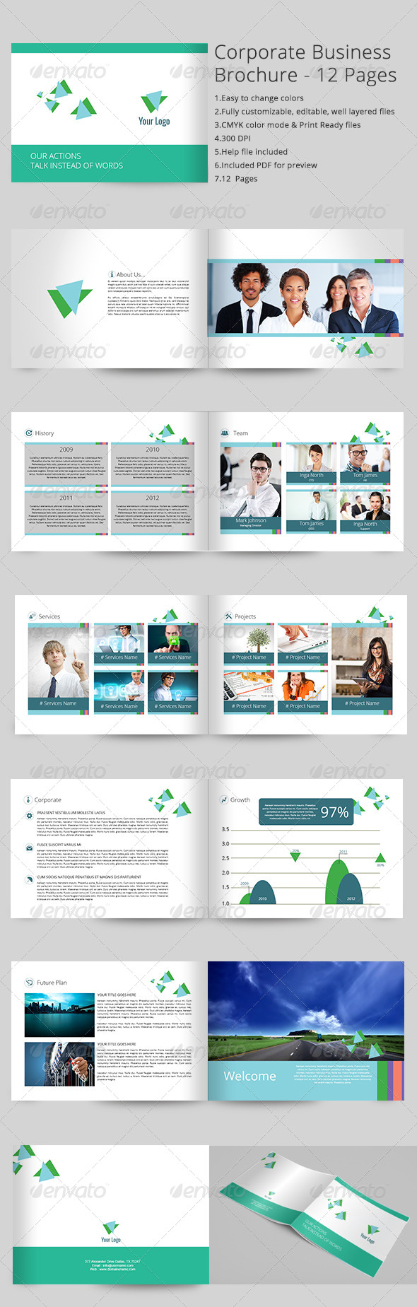 GraphicRiver Corporate Business Brochure 12 Pages 7040010
