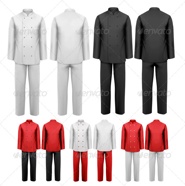 GraphicRiver Set of Various Work Clothes 7040017
